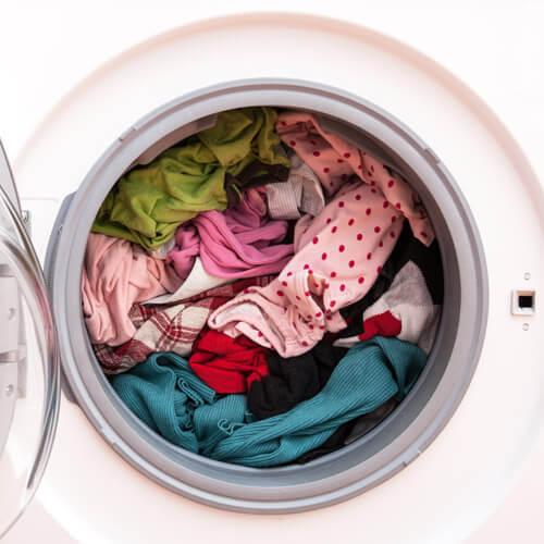 Lavandería en la lavadora