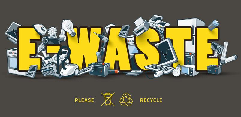 Gráfico de E-Waste con electrodomésticos desechados