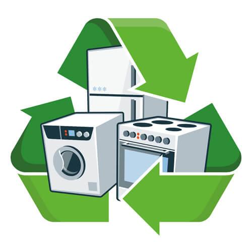 Aparatos y símbolo de reciclaje