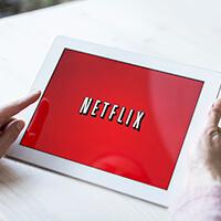 Logotipo de Netflix en Ipad