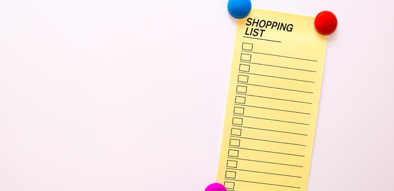 Lista de compras Nota sobre la puerta del refrigerador