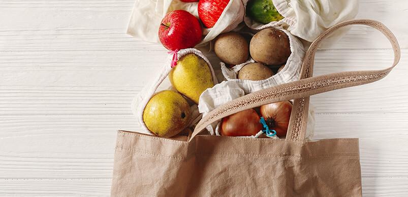 Bolsa de compras reutilizable Fruit Inside